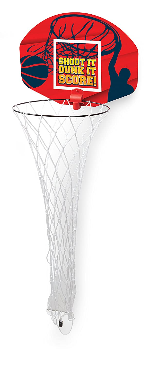 Ideas in Life Basketball Hoop Laundry Hamper Clothes Basket and Hoop 2-in-1 Over the Door Kids Clothes Hamper AX-AY-ABHI-109902