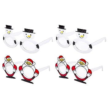 65f86337872c Pack of 4 Kids Children s Assorted Novelty Christmas Fancy Dress Glasses