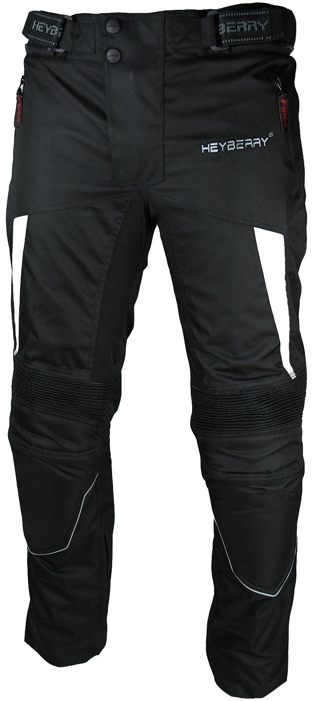 3XL HEYBERRY Motorradhose Textil Schwarz Wei/ß Gr