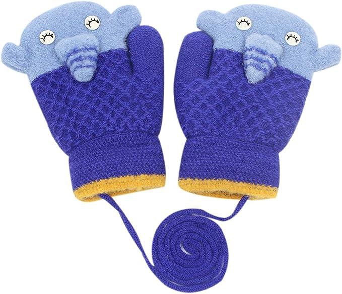 Baby Mittens Winter Gloves Cute Warm Children Cashmere Infant Toddler M