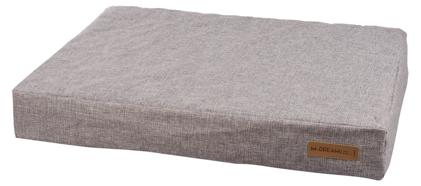 M-Pets Light Grey Orthopedic Mattress Pet Bed for Dogs or Catst, 31-inch