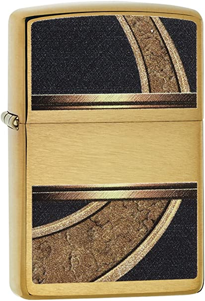 Zippo Gold & Black Mechero, High Polish Brass, 3.5x1x5.5 cm: Amazon.es: Deportes y aire libre