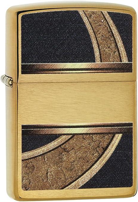 Zippo Gold & Black Mechero, High Polish Brass, 3.5x1x5.5 cm ...