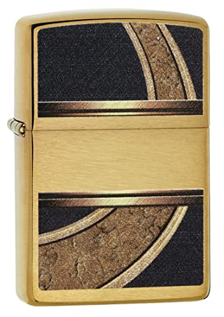 Zippo Gold & Black Mechero, High Polish Brass, ...