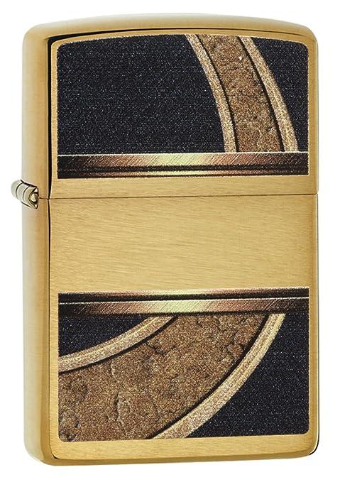 Amazon.com Zippo Design Lighter, Brushed Brass Sports