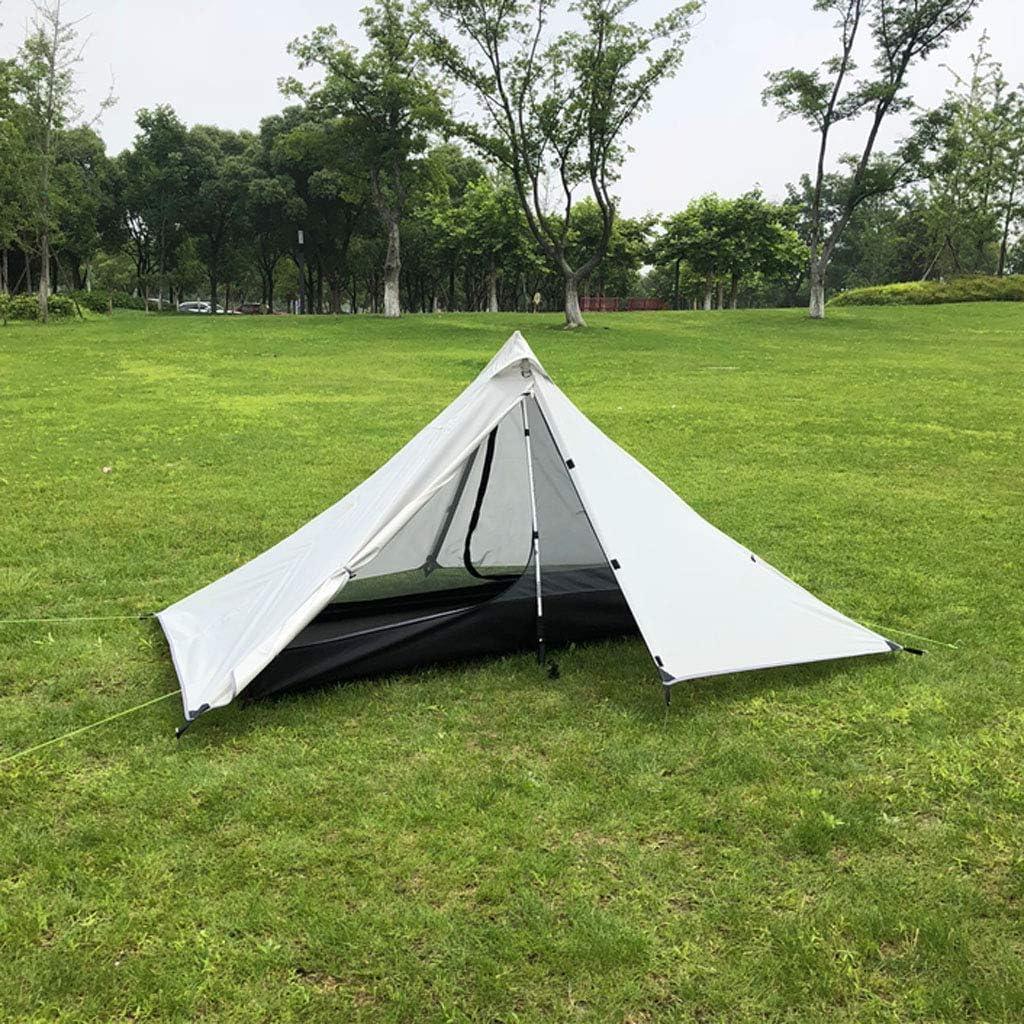 IDWOI Zelt 1 Person Dreieck Campingzelt Doppelschicht