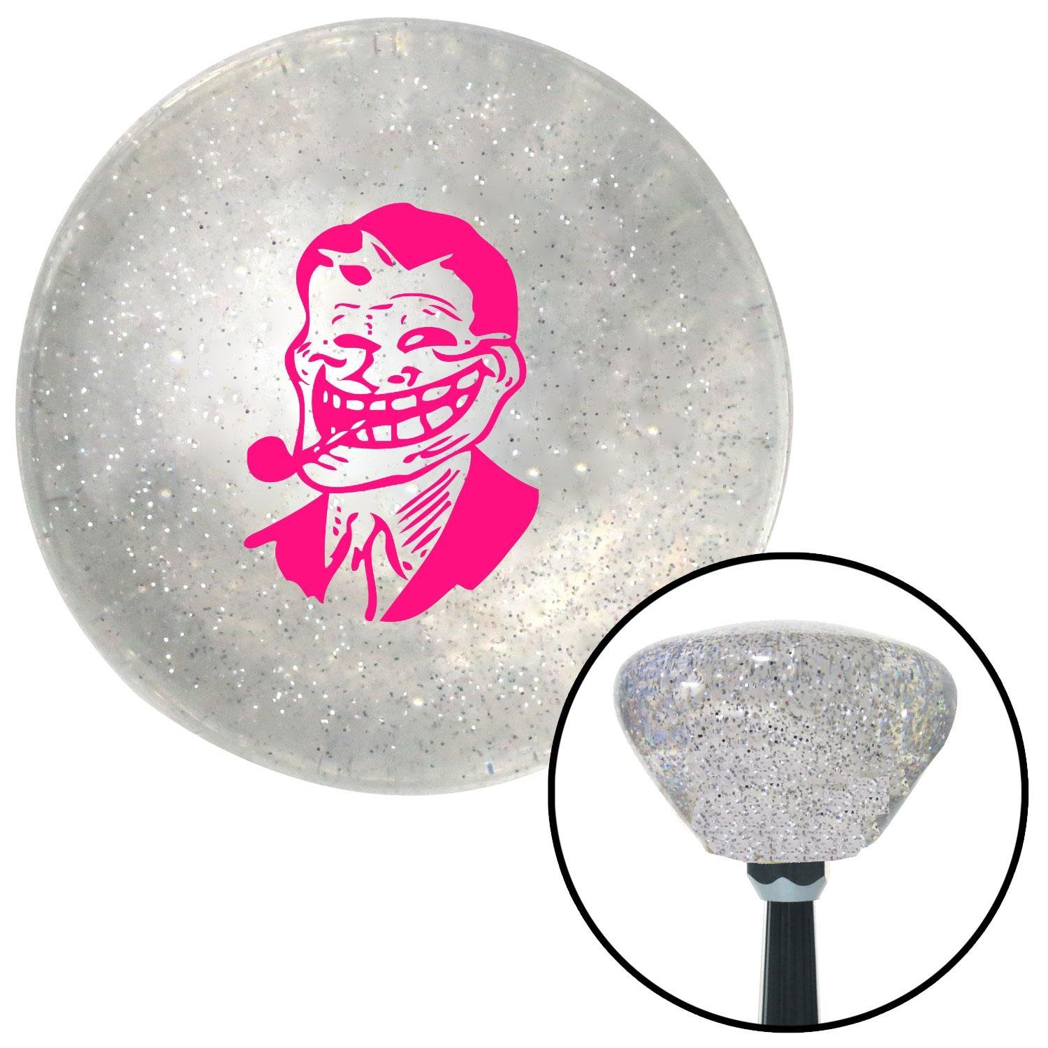 Pink Troll Dad American Shifter 161697 Clear Retro Metal Flake Shift Knob with M16 x 1.5 Insert