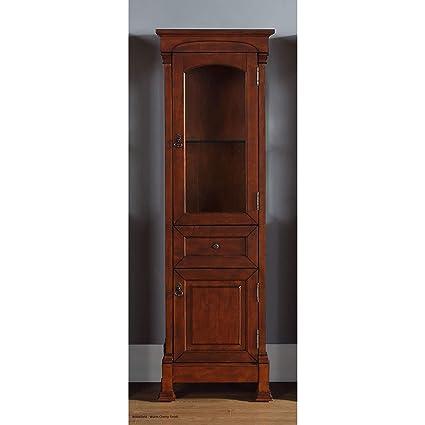 James Martin Furniture Linen Cabinet In Warm Cherry Finish 601002
