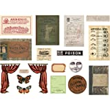 Tim Holtz 2019 Halloween Layers & Frames, Halloween Paper Dolls and Transparent Wings - 3 Items