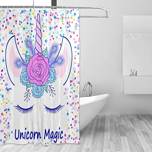 """US STOCK  Water Lily Stone Mermaid Beauty Girl Fabric Shower Curtain Set 72x72/"""""""