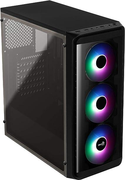 Aerocool SI5200FROST, caja PC ATX, ventana lateral, LED RGB, ventilador 12cm: Amazon.es: Informática