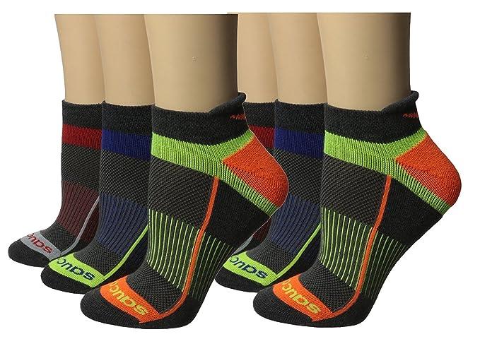 Saucony Women's Inferno Tab Socks, Charcoal Asst (076), Medium/7-10 Shoe, 6 Pair