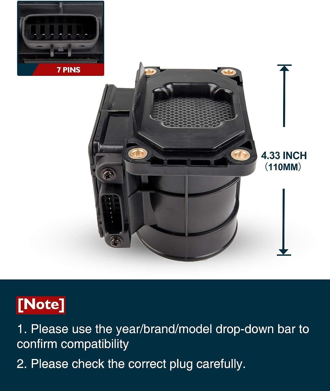KAX Mass Air Flow Sensor Meter MAF Sensor 245-1143 MD343605 Original Equipment Replacement Mass Air Flow Sensor Assembly