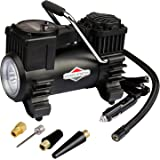 BriggsStratton Tire Inflator BS-IN310DC 12V DC Car Tire Pump with LED Light,Portable Air Compressor Pump Built-In Tire…