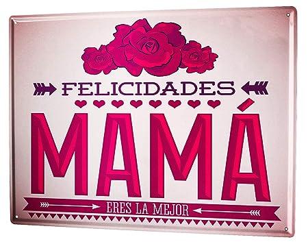 Cartel Letrero de Chapa XXL Diversíon Mama es la mejor ...