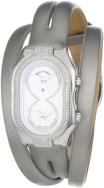 [フィリップ ステイン]Philip Stein 腕時計 Prestige Pave Diamond Platinum Double Wrap Silk Calf Strap 14DP-IDW-IPLDW レディース [並行輸入品] B012DRRLTK