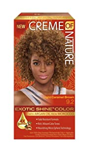 Creme Of Nature Exotic Shine Color With Argan Oil, Light Caramel Brown 9.2, 1 Ea, 1count