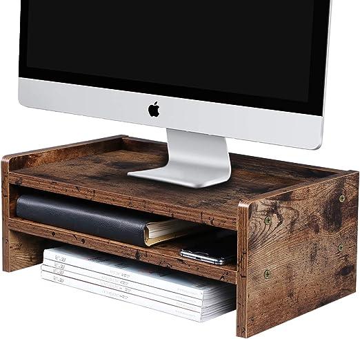 OROPY Soporte de Monitor de Madera para Pantalla, Organizador de Almacenamiento de Escritorio para TV, Computadoras, Computadoras Portátiles, Diseñado para el Hogar o la Oficina - L42 x W24 x H16cm: Amazon.es: