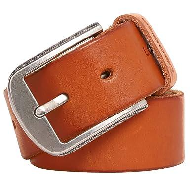 Leathario ceinture en cuir unisexe ceintures cuir pour hommes et femmes de  longueur 110 cm ceintures 0d8ee22f390