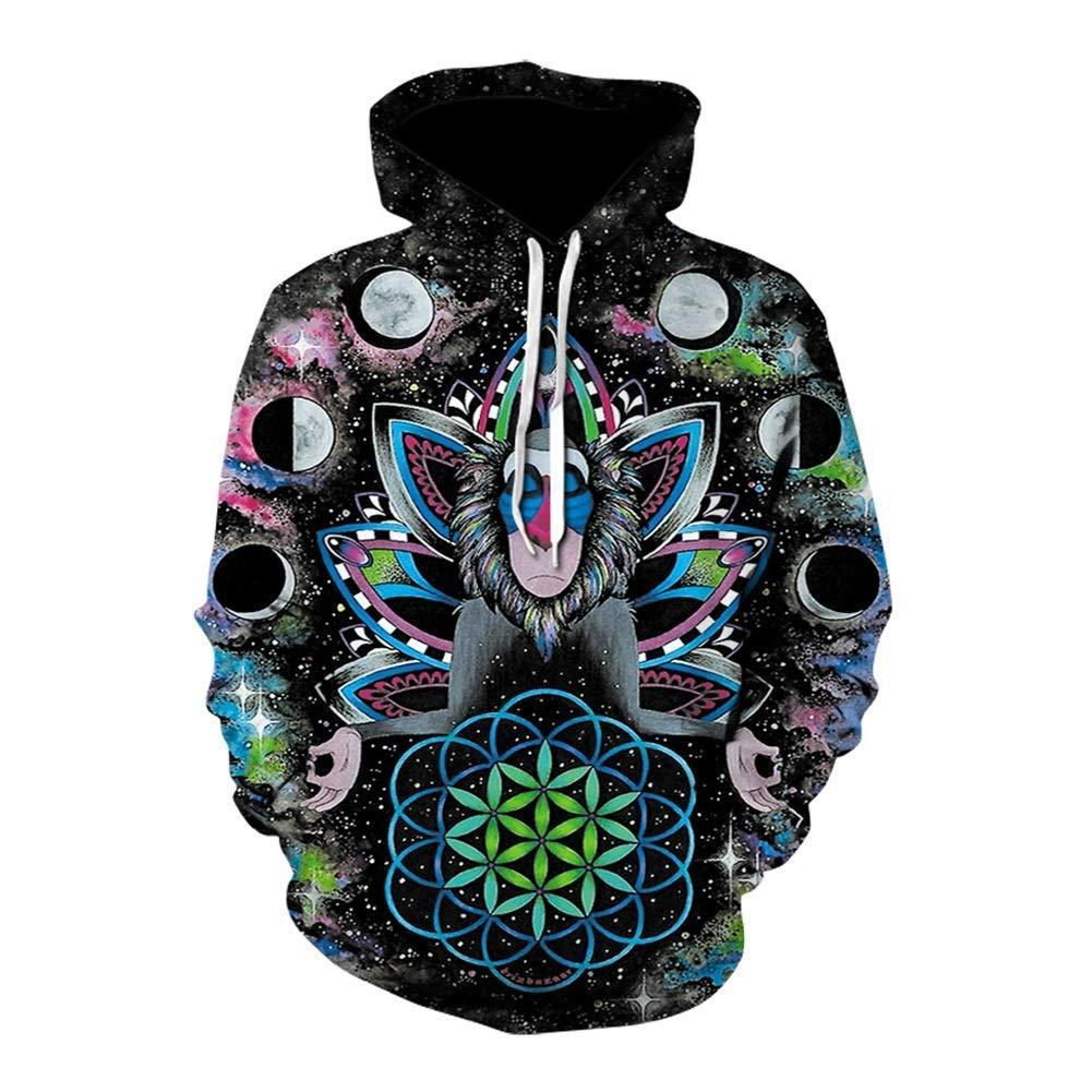 FuweiEncore 2018 Heißer Mode Hoodies Männer Frauen Hoodie Männer Sweatshirt Streetwear Männlich Mit Kapuze Mantel, 3D Hoodies, 3D Sweatshirts (Farbe   2, Größe   XXL) (Farbe   3, Grö&szl
