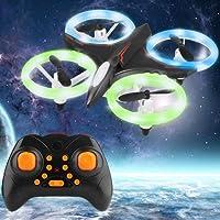 Dwi Dowellin Mini Drone avec LED Lights Maintien de l'altitude 3D Flips et Rolls RC Quadcopter pour Enfant Débutants Adultes décollage Atterrissage en Une Touche