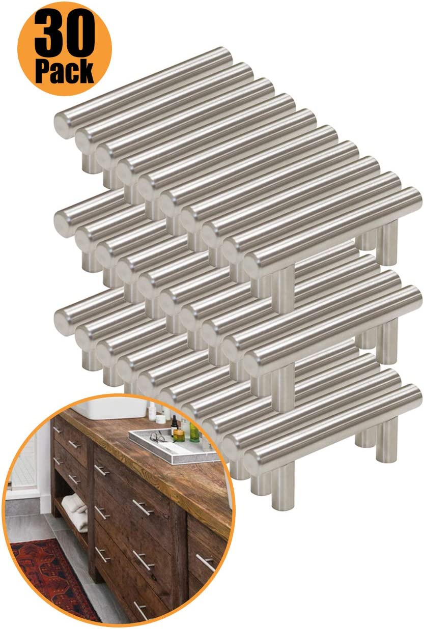 Gabinete de cocina asas Probrico 50mm 64mm 76mm 96mm 128mm 160mm 192mm 224mm 256 mm Barra en T asas pomos acero inoxidable 9 tama/ño