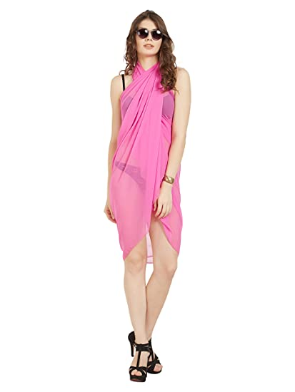 699cc4f193bed ELINA FASHION Sarongs Womens Faux Georgette Sexy Swimsuit Beach Bath Wrap  Cover-up (hot