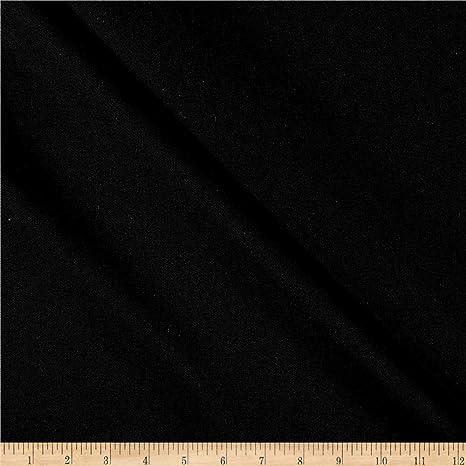 "42/"" Wide Designer Shantung Gown Black Fabric Wedding Dress Solid Fabric By 1 Y"