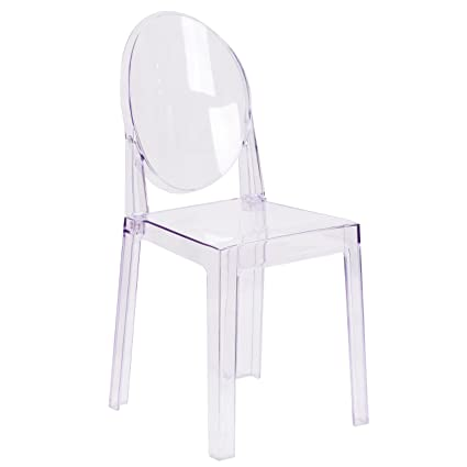 Merveilleux Flash Furniture Ghost Chair With Oval Back In Transparent Crystal