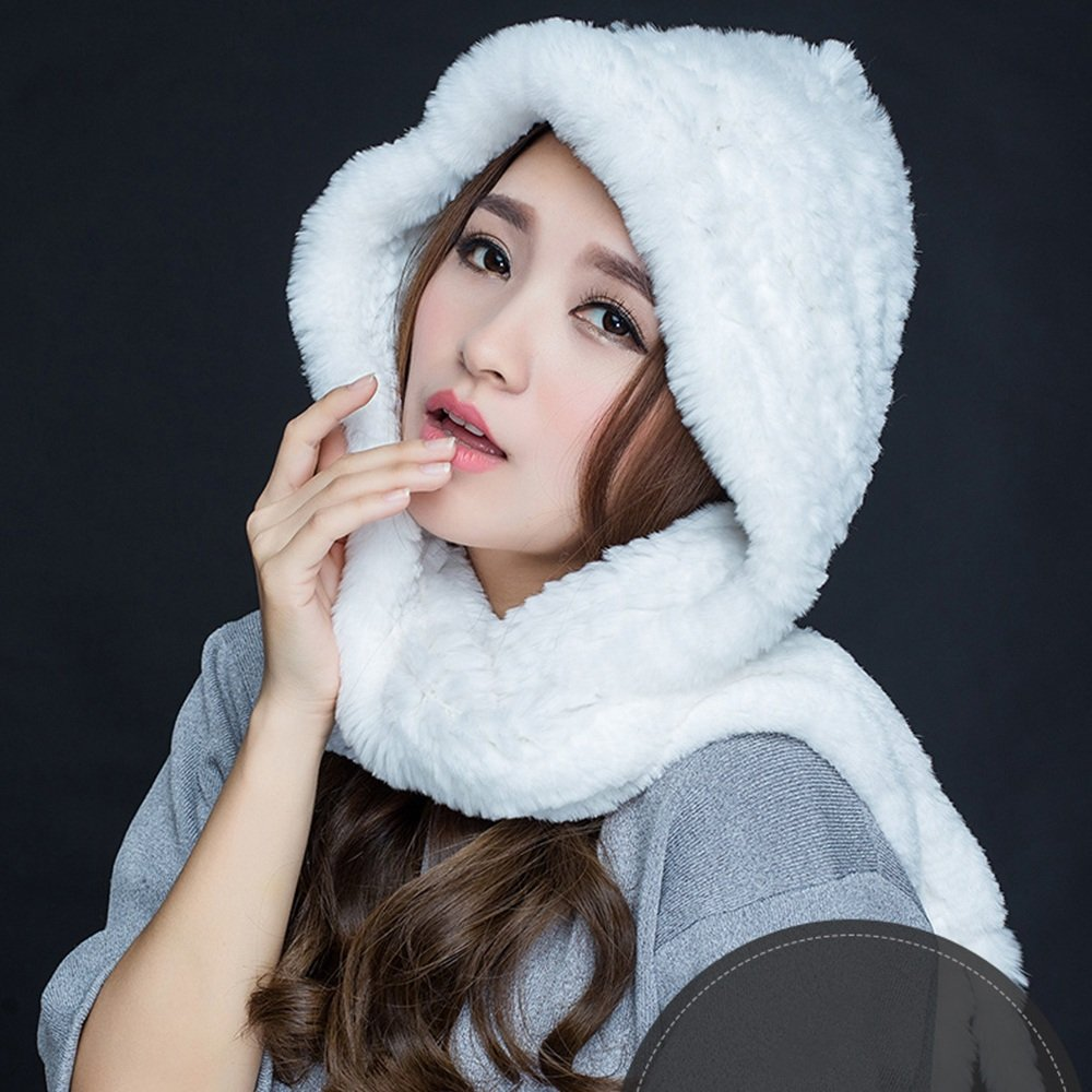 MEIDUO Ms. Donna Scarpe Sciarpa Invernale Uso Doppio Spessore Caldo Viola Bianco Rosso Nero Blu ( Colore : Bianca )