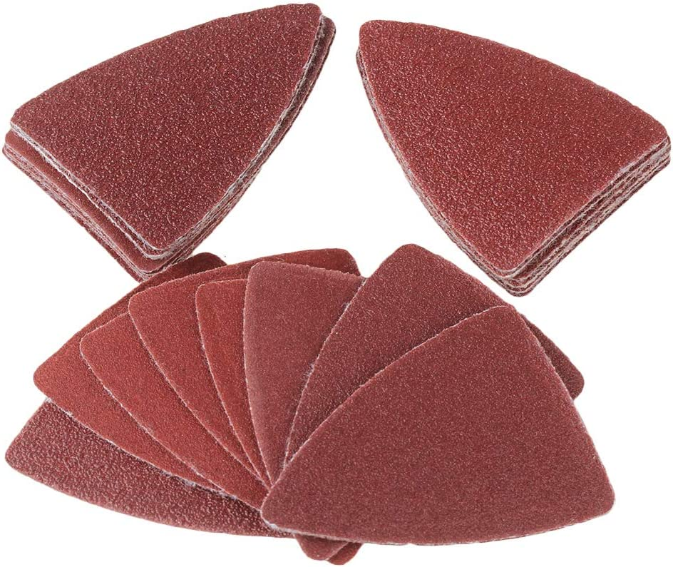CNBTR 50mm Brown Oxyde dAluminium Abrasif 60//80//120//180//240 # Finger Sandpaper Sheet Paquet de 100