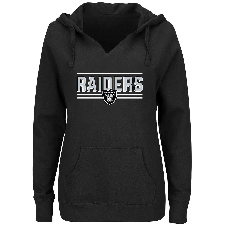 NFL Womens Raiders Fleece Pull Over Notch Hood