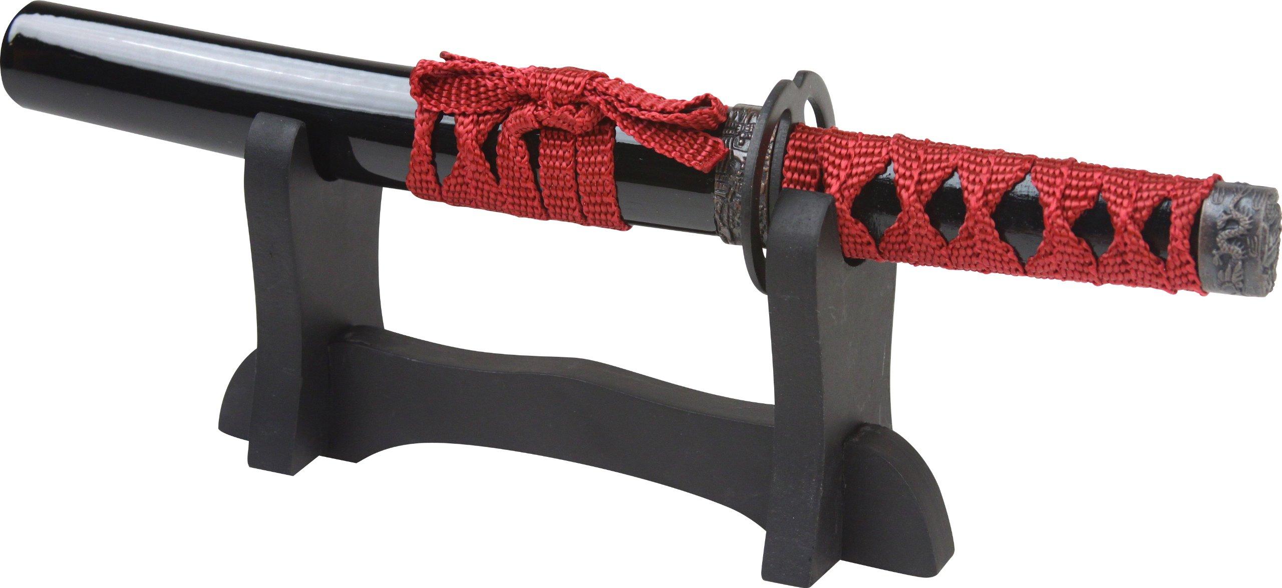 BladesUSA Sw-1811Bk Samurai Sword Letter Opener 9.5-Inch Overall,Black