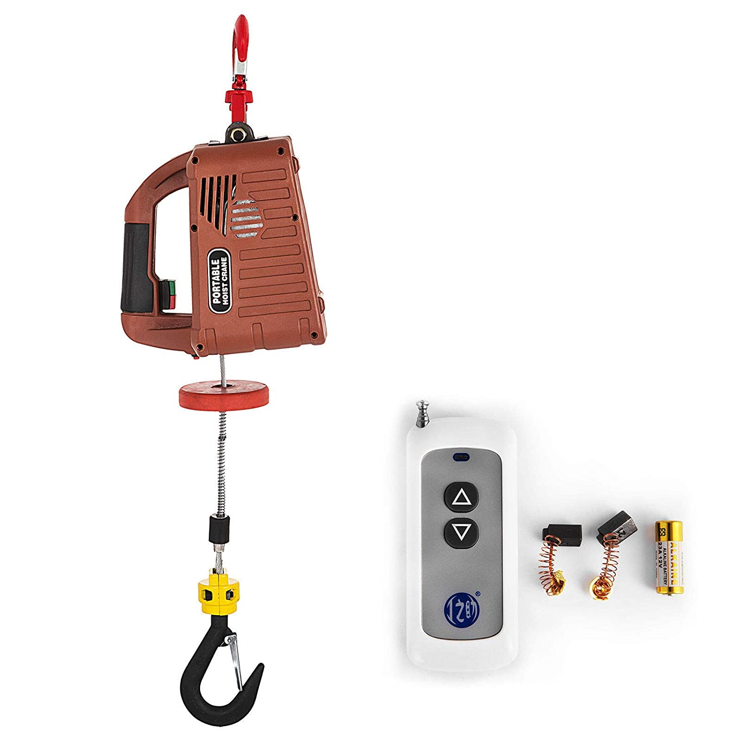 bestauto electric hoist winch ac corded version lift electric hoist