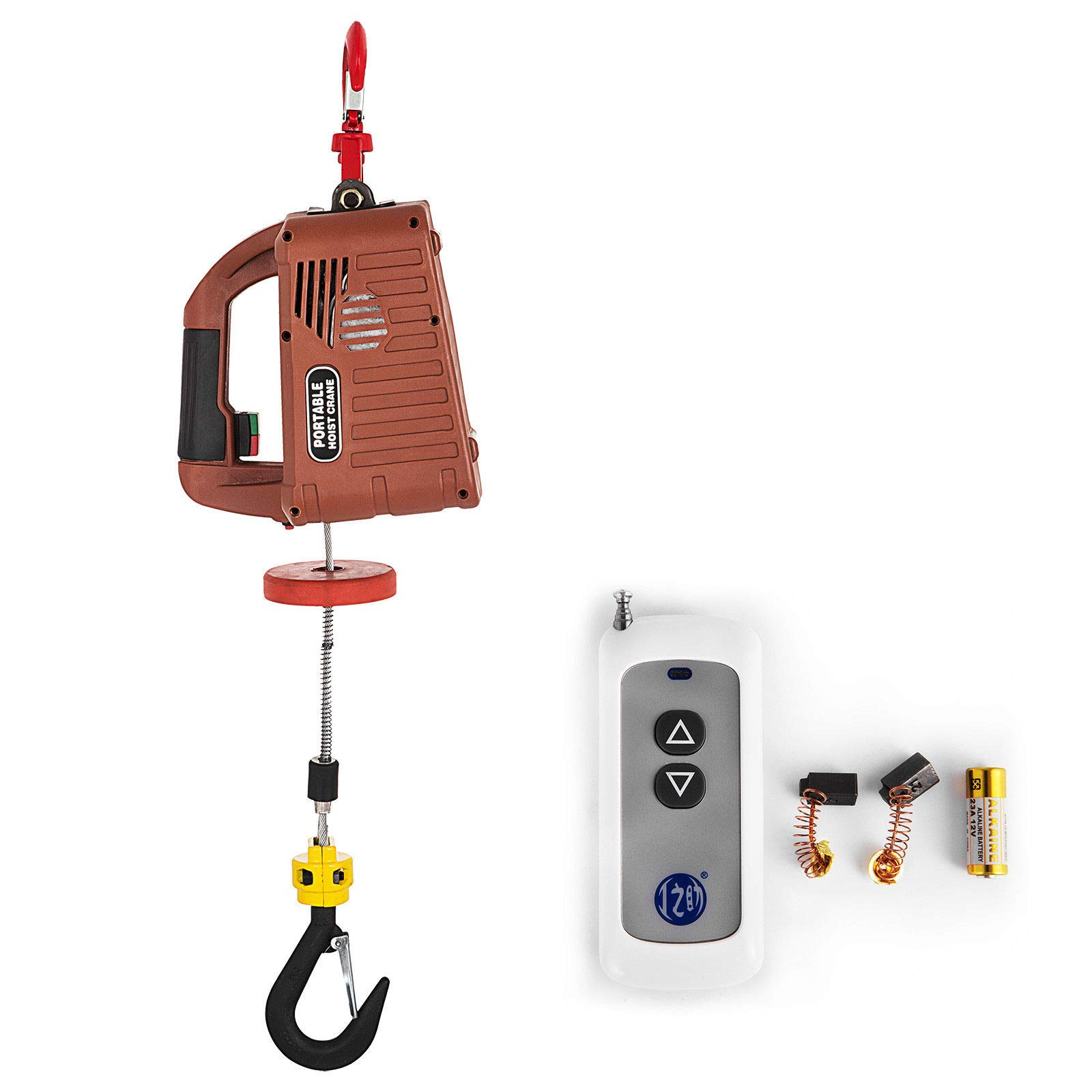 Bestauto Electric Hoist Winch AC Corded Version Lift Electric Hoist 885000 PullzAll Hand Held 500kg Electric Hoist for Lifting by Best In Auto
