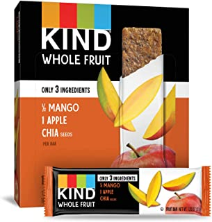 product image for KIND Whole Fruit Bars, Mango Apple Chia, Gluten Free, No Sugar Added, 1.2oz, 12 Count