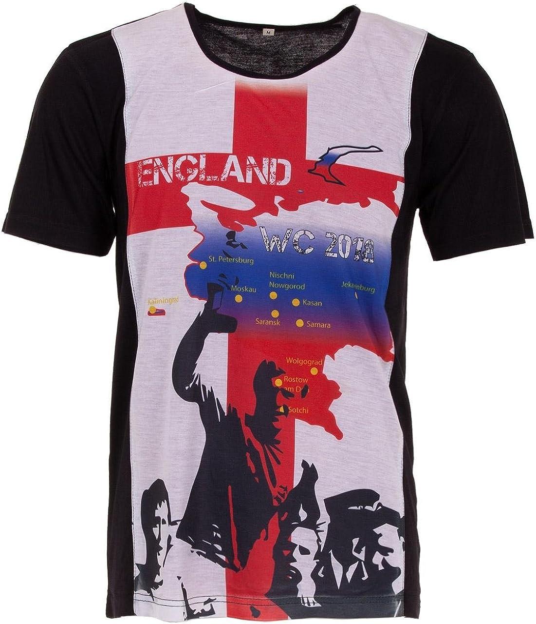 LUCKY WM 2018 - Camiseta de fútbol para Hombre, diseño de la Copa del Mundo de Rusia: Amazon.es: Ropa y accesorios