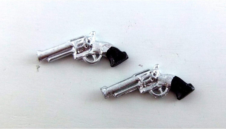 Toy International Miniatures Dollhouse Miniature Set of Two Pistols