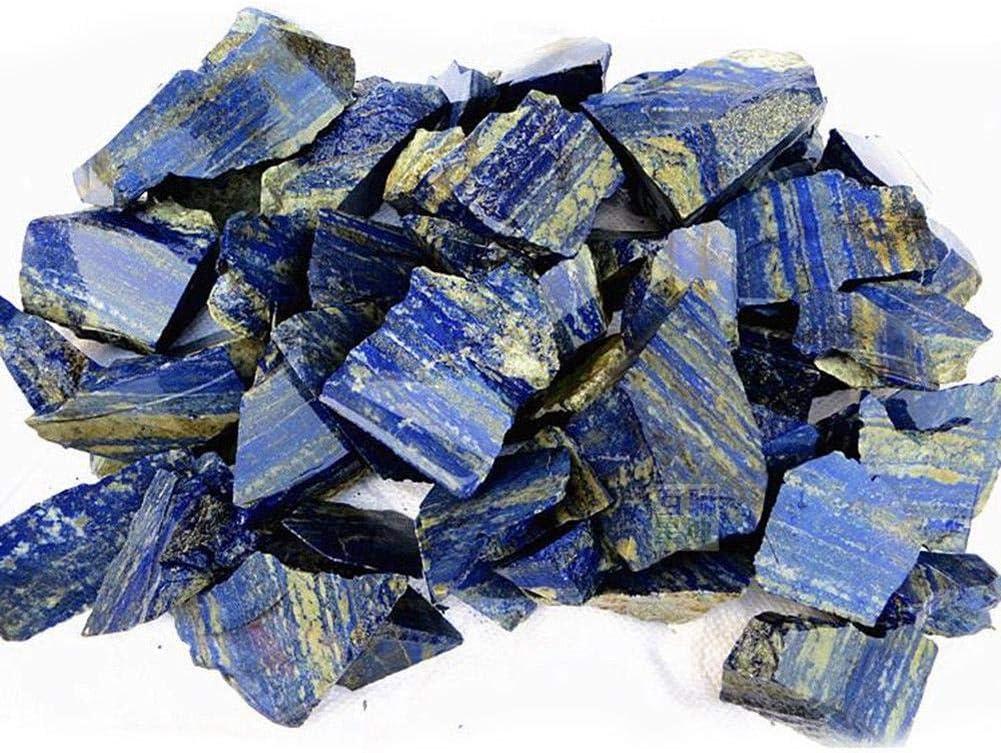 Volwco Lasurite Natural Lazurite para decoración de peceras, material de bricolaje azul lapislázuli crudo, lapislázuli, piedra de cristal áspero labial para familia o amigos regalo