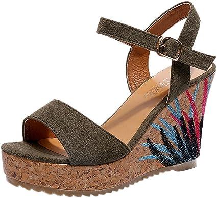 Womens Sandals WuyiMC Bohemian Summer