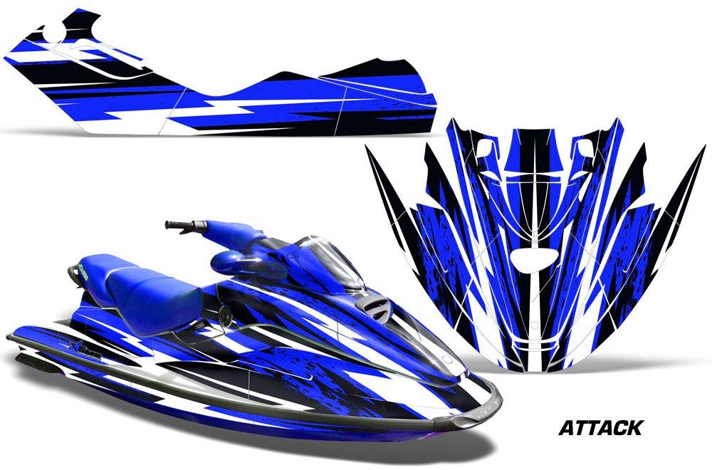 1996 – 1999シードゥーGTX AMRRACINGジェットスキーグラフィックデカールキット – Attack – ブルー   B01C1YE3QY