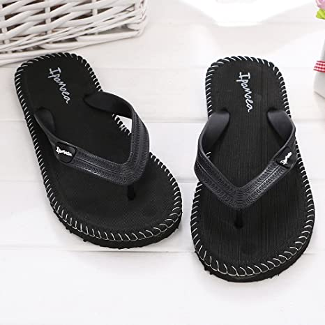 687672f6e Image Unavailable. Image not available for. Color  Men Flip Flops Slippers  Clip Toe Beach Shower Lightweight Comfort ...