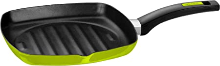 Monix Lima Sart/én 18 cm de acero esmaltado verde con antiadherente Teflon/® Classic.
