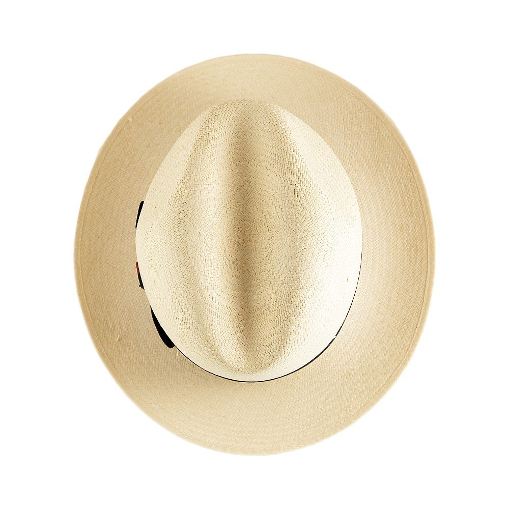Olney Hats Excellent Panama Fedora with Striped Band