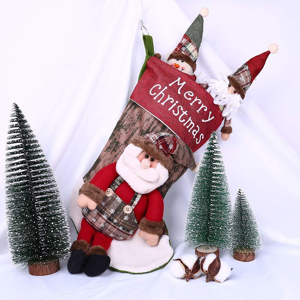Junjie Mode Weihnachts Tuch Größe 50x27cm Weihnachtssocken ...