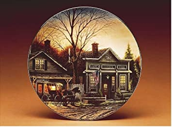 Amazon.com: Terry Redlin's land Collection Decorative Plate ... on united kingdom hours, study hours, beach hours,