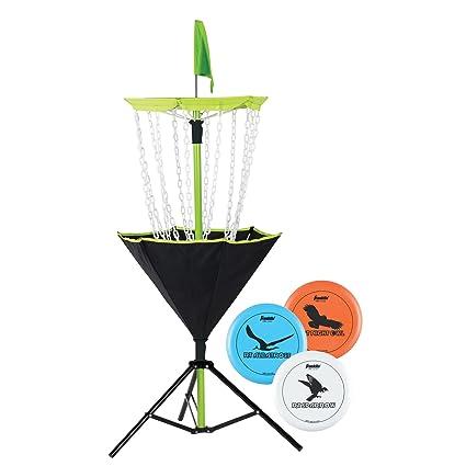 edeeafabb Franklin Sports Disc Golf Set - Disc Golf - Includes Disc Golf Basket,  Three Golf