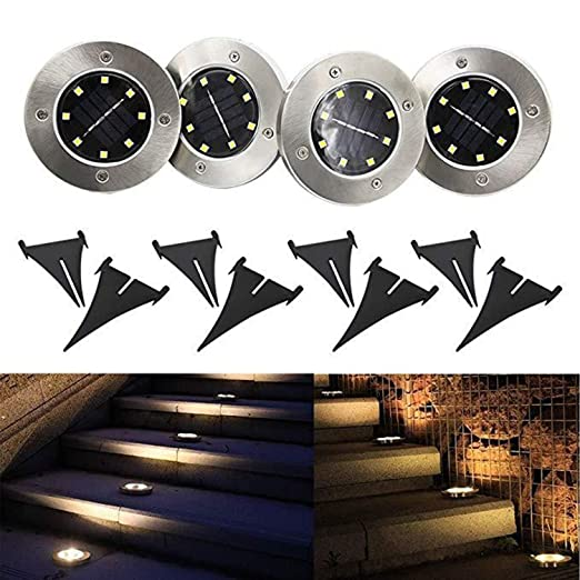 Lighting From The Ground Ground Zero Solar Powered Disk Lights Led Disk Lights Outdoor Pack In Ground Solar Amazoncom Solar Powered Disk Lights Led Disk Lights Outdoor Pack In