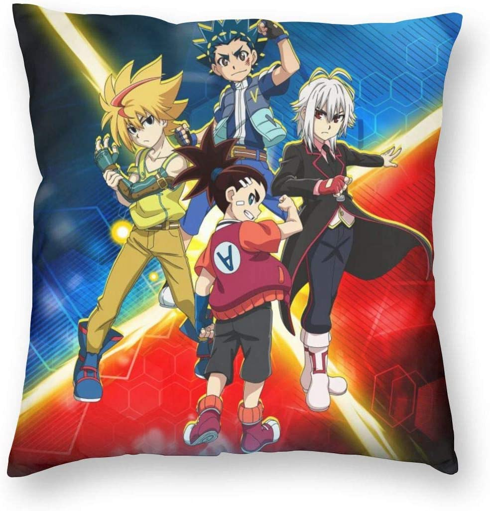 Bey-Blade-Rivals Soft Square Pillow Throw Case Covers Set Cushion Hold Pillowcase Sofa Bed Home