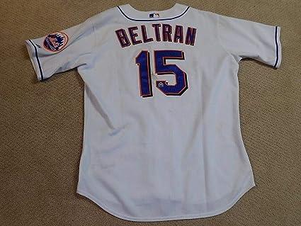 Carlos Beltran Game Worn Jersey New York Mets Mlb Steiner